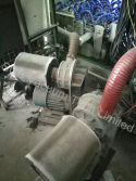 Belt-driven blower used in electroplating