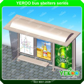 Outdoor furniture advertising metal bus shelter