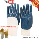 light duty nitrile work glove application show on YouTube