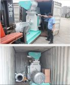 2014.09 MZLH508 Ring Die Wood Pellet Mill send to Vietnam