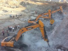 Excavator Mounted attachment for Rock Drill