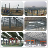 Prefabricated light steel structure house building for warehouse