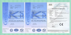 CE ISO certificate