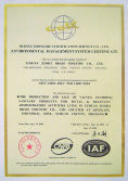 ISO14001 Certificate