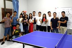 Landpack table tennis match