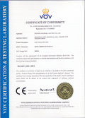CE certificate for gas insulation RMU-HXGN(RMR)-V-40.5
