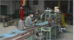 blue colour welding electrode production image