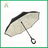 Manual Reverse Straight Cars Umbrella