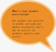 What′s your product positioning?