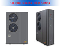 All in one air to water heat pump hot water with AC