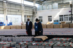 Burundi customers visit the battery factory