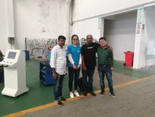 Indian customer visiting our cnc pipe bending machine workshop