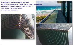 10mm,12mm, toughened glass for balustrade fence