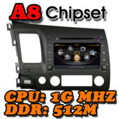 WITSON A8 Chipset HD 1080P 1G CPU 512M RAM DVD player FOR CIVIC (2006-2011)