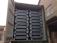 Loading of wire mesh container