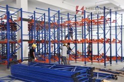 HEGERLS brand radio shuttle racking installation in Thailand