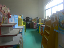 cardboard display sample room