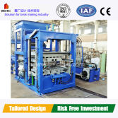 Automatic cement block brick making machine with installation