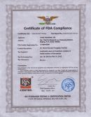 6%Ni-TC FDA Certificate for Food industry