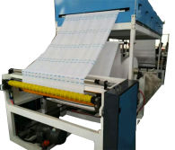 Neck paper roll making machine