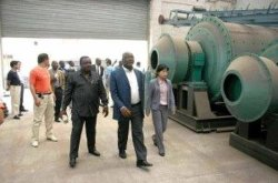 Nigeria customer visiting for ball mill plant
