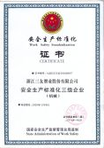 WORK SAFETY WORK SAFETY STANDARDIZATION CERTIFICATE