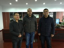 Customer from Egypt visits our company for PVC corner bead machine purchase
