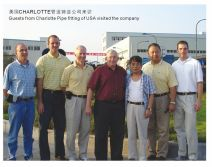 Guests from Charlotte Pipe Fitting of USA Visited our company.