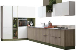 Customized Simple Design MFC Material Kitchen Cabinet Modular Kitchen