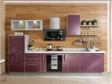 Customizable High Gloss Wooden Kitchen Cabinet