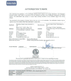 ETL Certificate of DW150TC