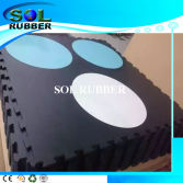 Special logo High Density Interlock Gym Rubber Flooring