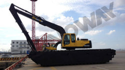 Swamp excavator with long boom to Africa
