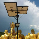 Thailand- 100w solar flood light