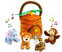 animal plush toy with basket