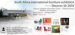 South Africa international furniture exhibition