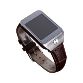 genuine leather smart watch for IOS and Android
