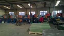 production line for color-coated steel wall