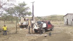 Hanfa HF120W Water Well Drilling Rig At Working Site In Nicaragua