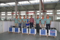 Foreign customers visit our company