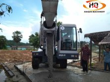 Self loading mobile concrete mixer worked in Myanmar