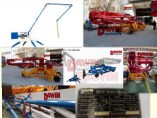 DAWIN 17m Spider concrete placing boom shipping to United Sates