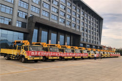 60 units of CLW-Weiyu brand3.5ton Truck with crane ready to deliver to Djibuti of Eastern Africa