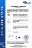 CE Certificate of Dust Test Chamber