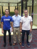 Mr FU treated our customers from Russia After visiting our factory ,