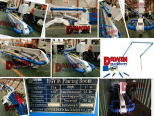 DAWIN 18m Spider Concrete Placing Boom ship to Canada