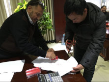Egypt customer sign the contract with us
