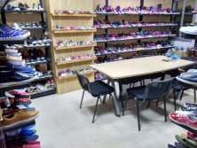 Canvas shoes room