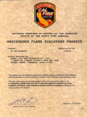 Registered Flame Resistant Product