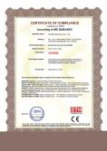 Electric pallet stacker Certificate of compliance